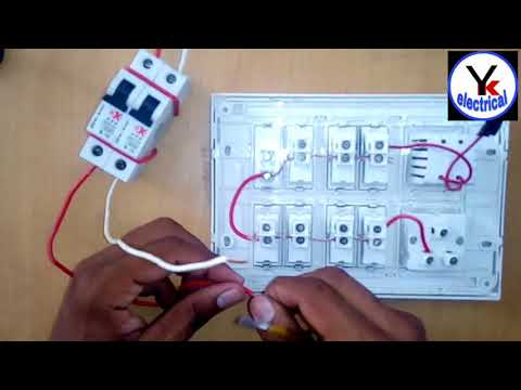 House Wiring In Board At Home Yk Electrical Youtube