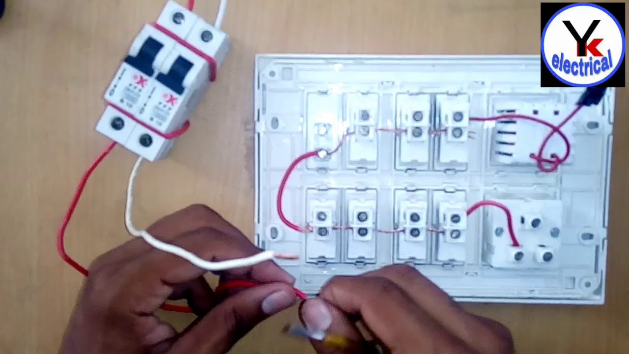 house wiring in board at home yk electrical youtube house ac wiring basics house ac wiring [ 1280 x 720 Pixel ]