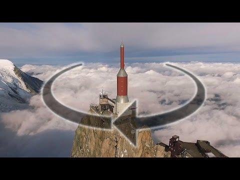 Point of Interest at 3842m Aiguille du Midi (POI Hotpoint Orbit Demo with P3 Phantom 3) DJI Mavic