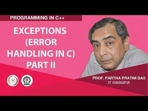 Exceptions (Error Handling in C) : Part II