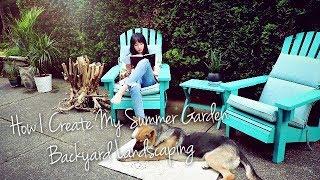 【Esther】DIY自己改造后院花园🌵简单又省钱🌵注意:内有萌(e)宠(quan) ▎How I Create My Summer Garden Backyard Landscaping