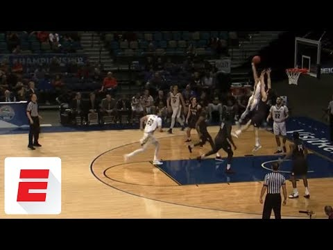 Northern Colorado player throws down ridiculously powerful posterizing dunk in conf. tourney | ESPN