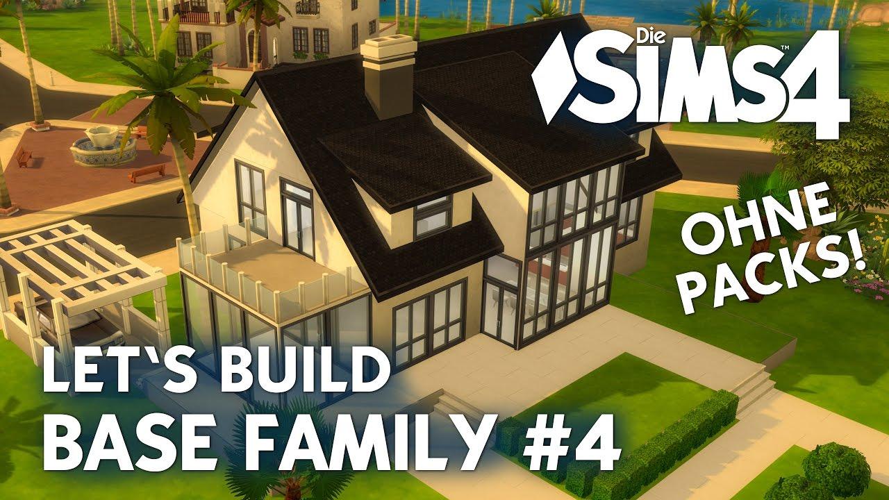die sims 4 haus bauen ohne packs base family 4 schlafzimmer ankleidezimmer deutsch youtube. Black Bedroom Furniture Sets. Home Design Ideas