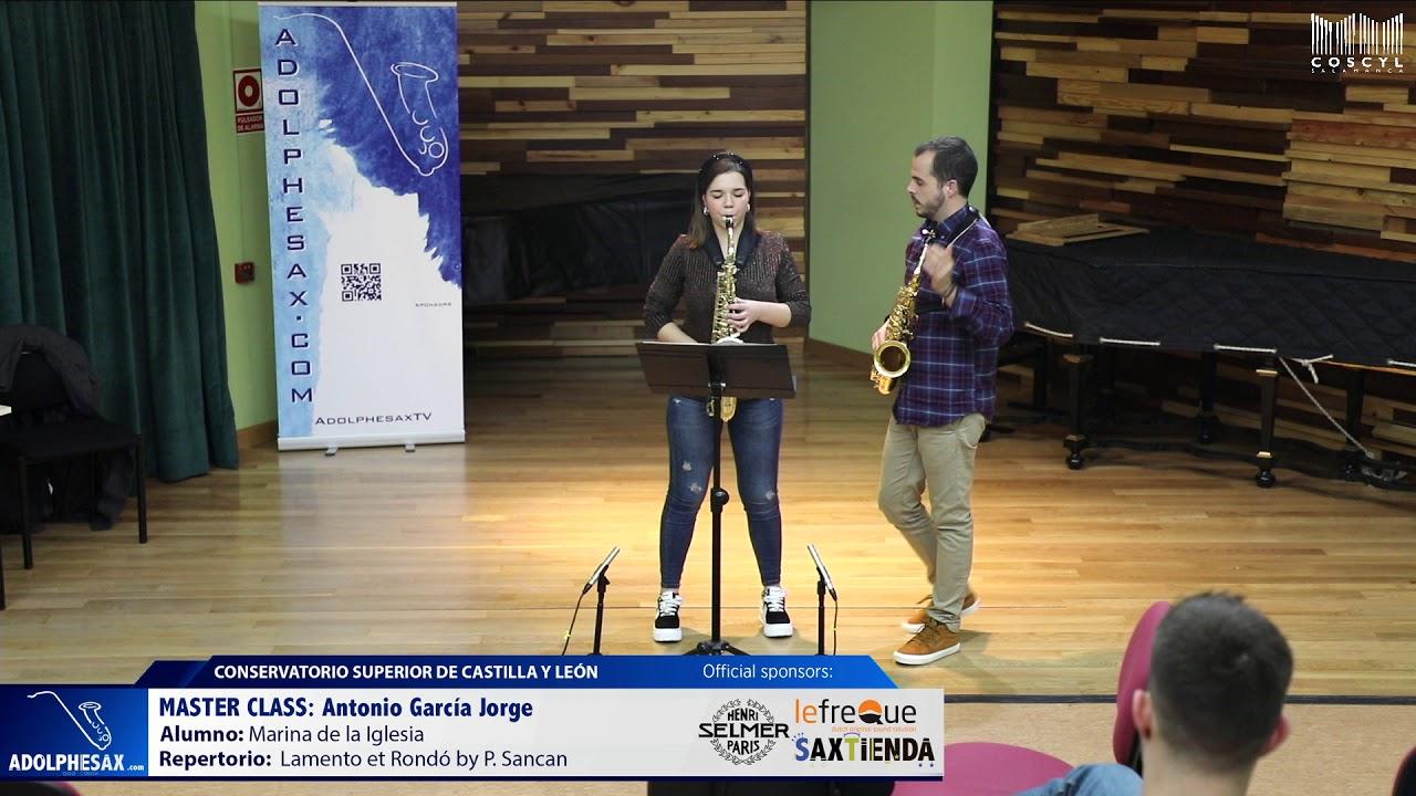 MASTER CLASS - Antonio Garcia Jorge - Marina de la Iglesia  (COSCYL)