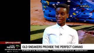 'Shoe Mechanic' Tshidiso Motlhabane revamps old sneakers/takkies