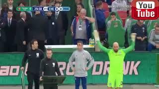 JAJA. Bramkarz Kepa Arrizabalaga nie chce zejść z boiska. Puchar Anglii finał 2019