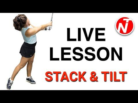 STACK & TILT - LIVE LESSON | GOLF TIPS | LESSON 177