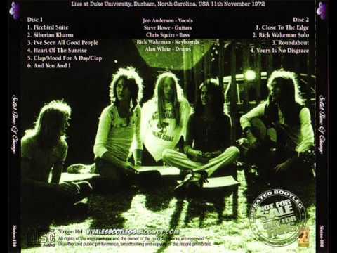 Yes live at North Carolina [11-11-1972] - Full Show