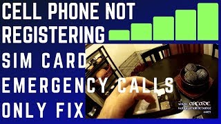 How To Fix Cell Phone Not Registering Sim Card Emergency Calls Only Macgyver Style