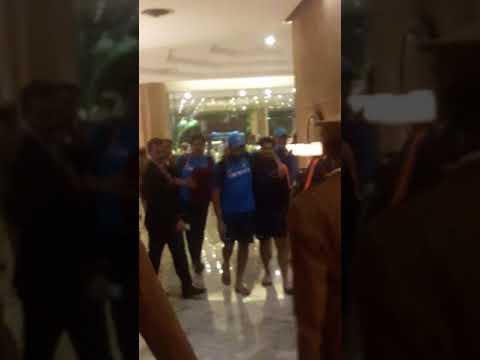 Virat Kohli and Team India arriving in Team hotel in Delhi