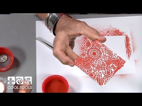 Cool Tools | Introduction to Enameling with Stencils by Jan Harrell