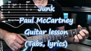 Download Lagu Junk Paul McCartney Guitar lesson Tabs MP3