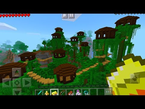 The Best Seed Ever Tree House Village Seed In Minecraft Pocket