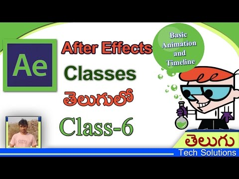 After Effects Classes In Telugu | Basic Animations | Class-6 | Telugu Tech Solutions!!!