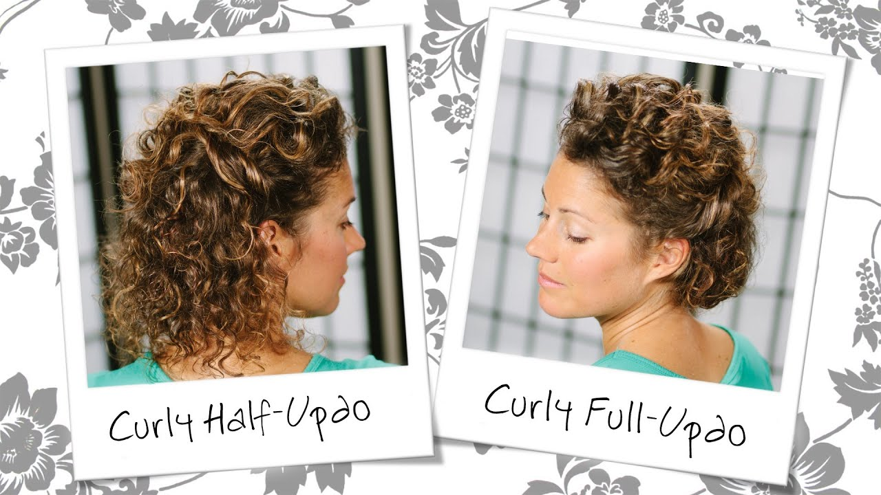 Watch Wedding Inspired Updo For Short Curly Hair
