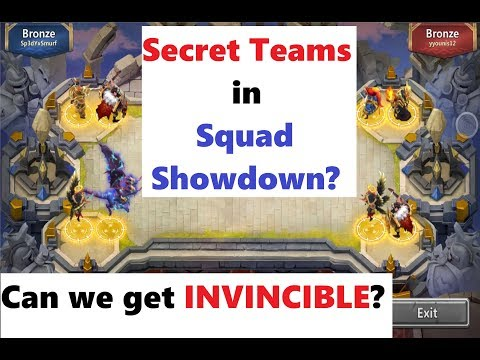 Can We Reach INVINCIBLE In Squad Showdown + SECRET TEAMS Castle Clash