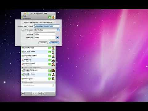 Lo básico de iChat - Mac OS X Snow Leopard