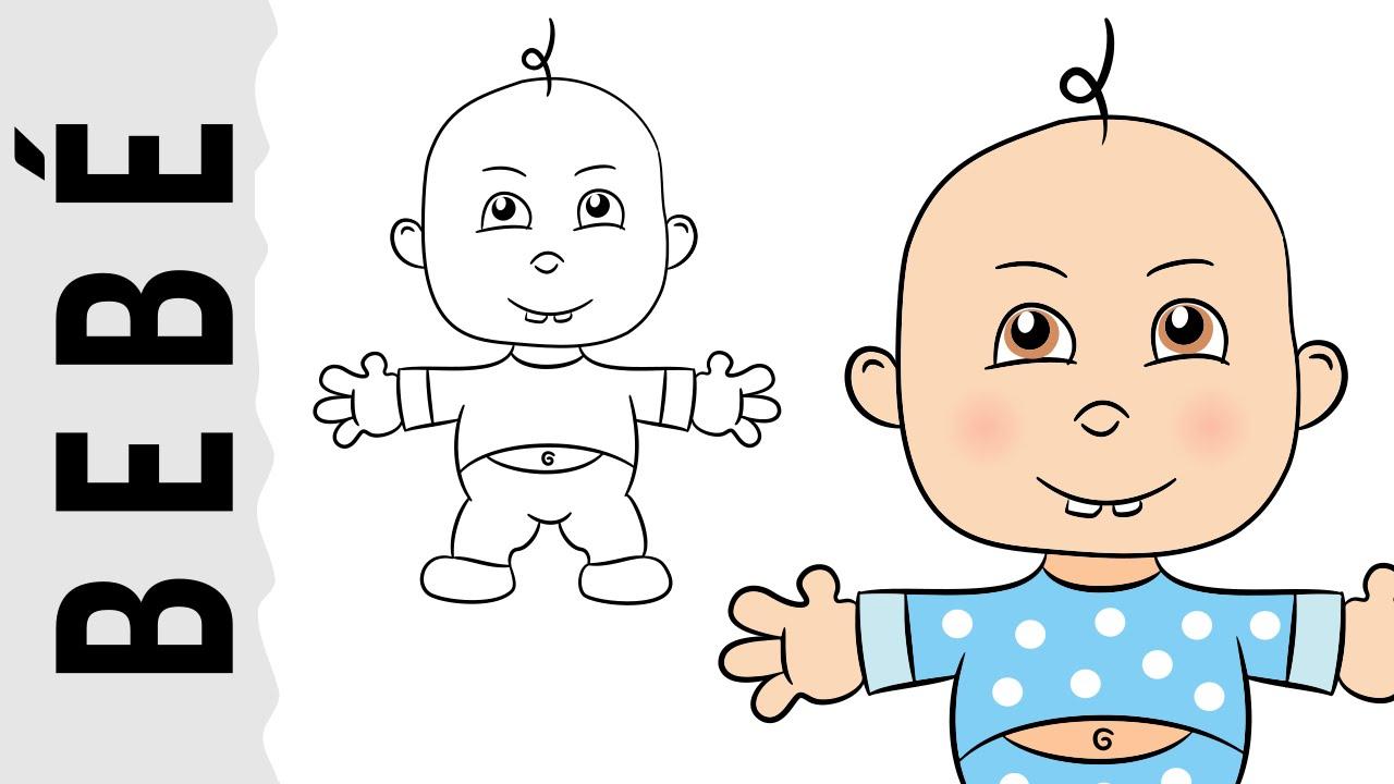 Dibujo De Un Bebe A Color: Como Dibujar Un Bebé Paso A Paso Con Dibujart.com