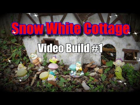 Disney Snow White and the Seven Dwarfs Cottage DIY Custom backyard Crafts build in progress Video 1