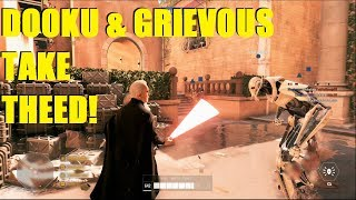 Star Wars Battlefront 2 - Count Dooku & General Grievous DESTROY Theed! | Darth Tyranus 50+ streak