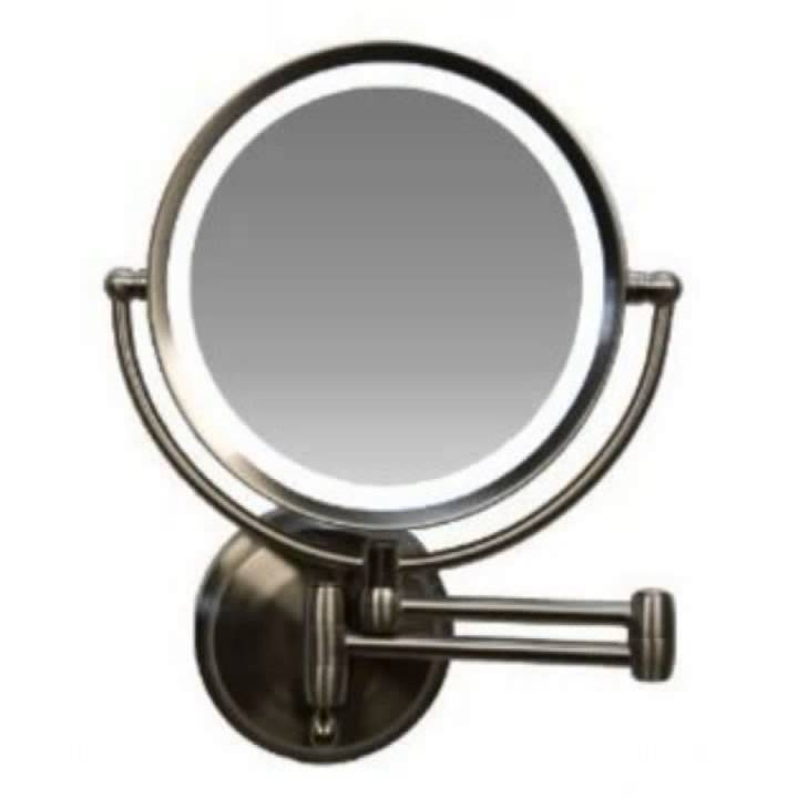 wall mounted mirror wall mounted lighted makeup mirror 28893