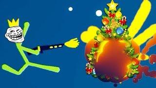 - ВОЙНА СТИКМЕНОВ за Новый Год  мультяшное прикольное видео смешные сражения рисованных героев