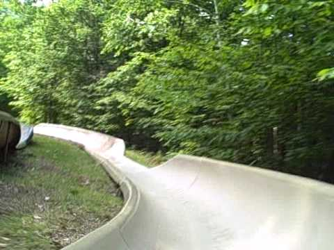 Attitash New Hampshire - video of the alpine slide