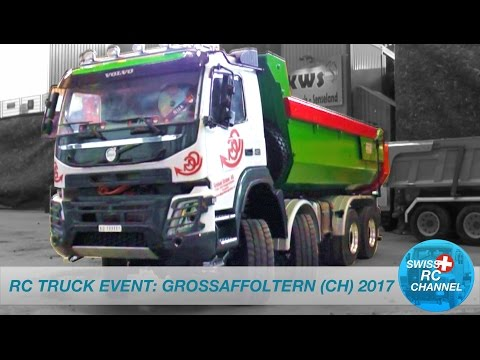 BEST OF RC TRUCK EVENT: GROSSAFFOLTERN (SWISS) 2017 - RC TRUCKS, DOZER, EXTRAVACTOR, FARM MACHINERY