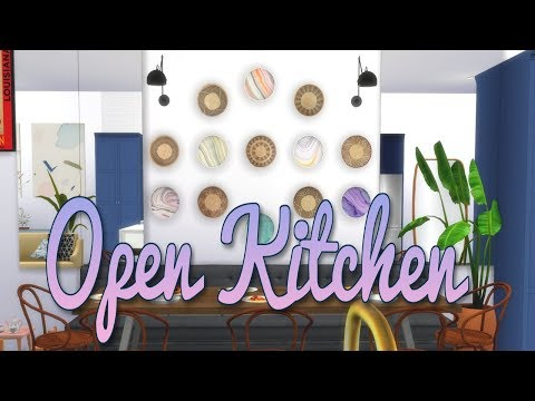 the-sims-4-||open-kitchen-||-room-build-+-full-cc-list
