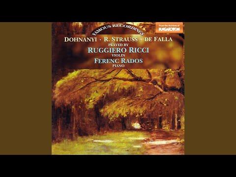 Sonata in E flat major Op.18: II. Improvisation. Andante cantabile