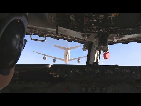 USAF E-3 Sentry (AWACS) Mission Over Afghanistan (HD)