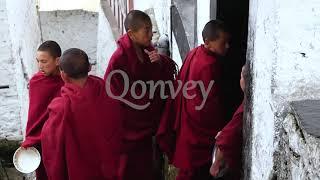 Buddhist monks group Himalayas monastery  | Stock Video | Qonvey