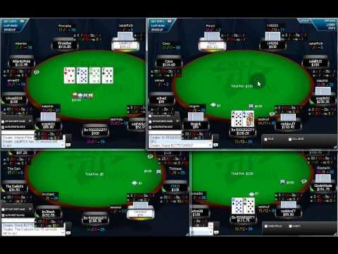 Free Online Poker Strategy Video 100NL cash game On Full Tilt Poker by Gamble321.com