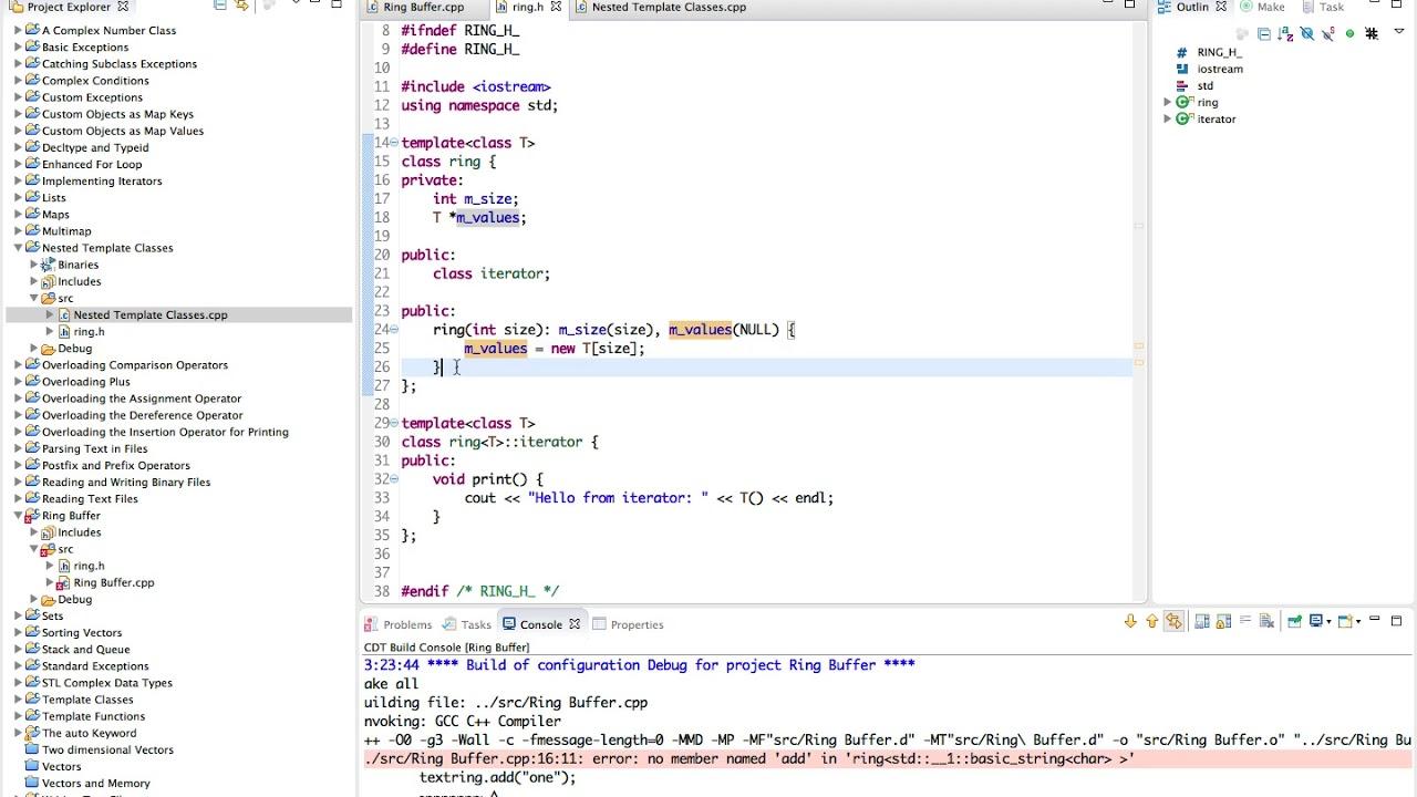 Learn Advanced C++ Programming a ring buffer class
