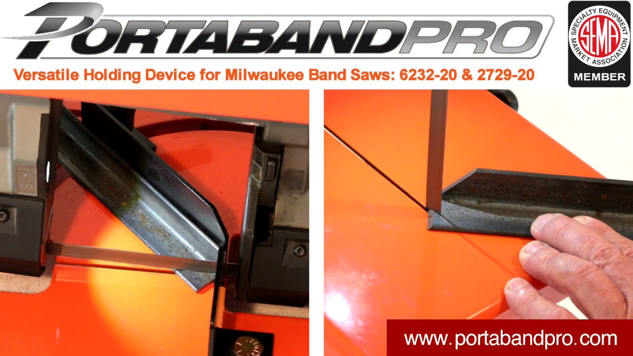 Transform Your Milwaukee 6232 and 2729 PortaBand Saw into a Chop Saw with Portaband Pro