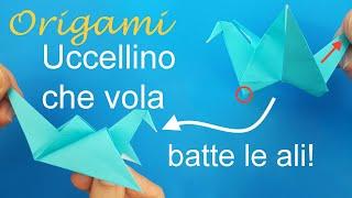 Origami: uccellino che vola (facile)