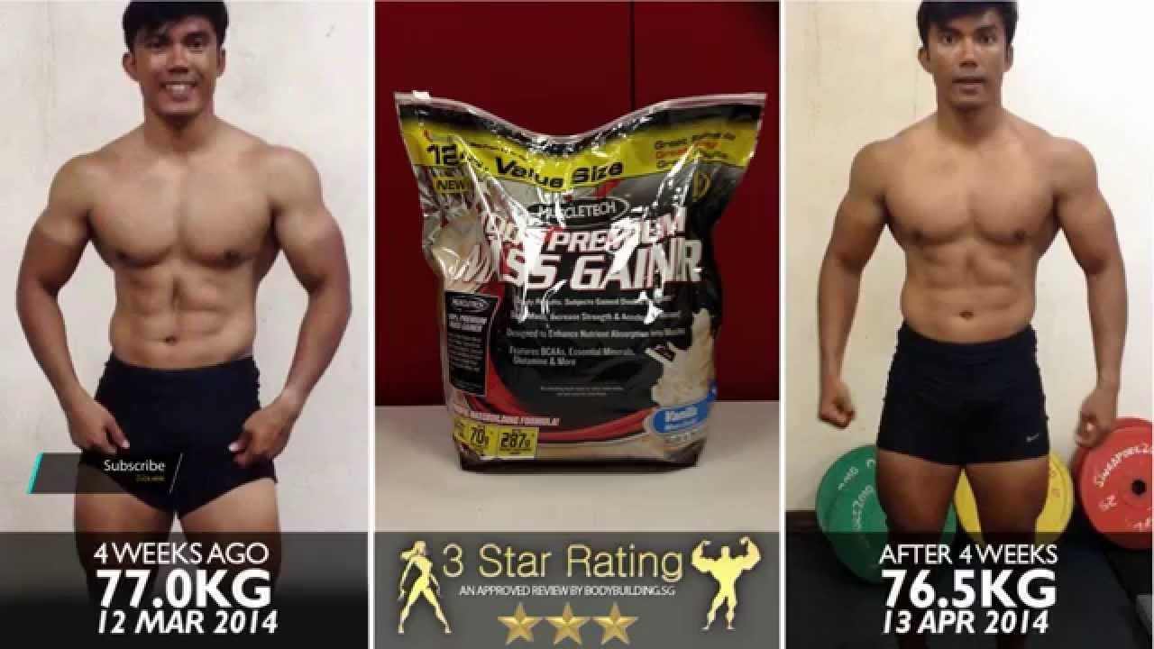 MuscleTech 100% Premium Mass Gainer - YouTube