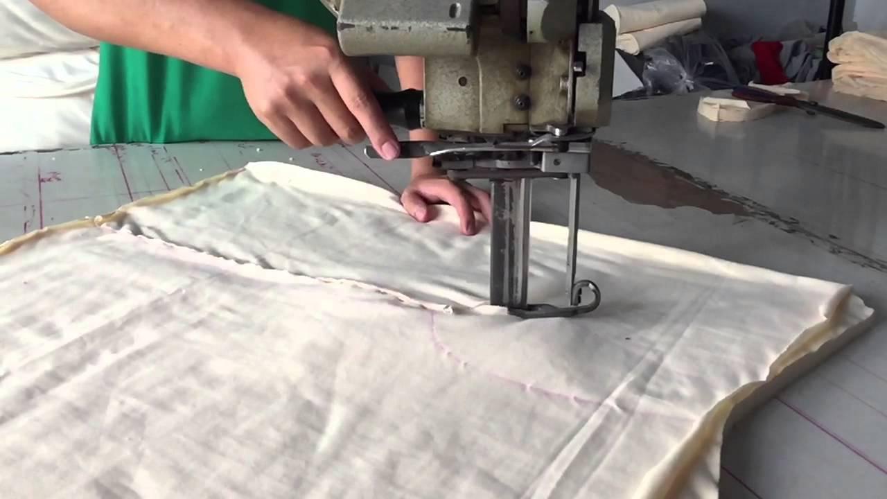 cắt vải bằng máy cầm tay