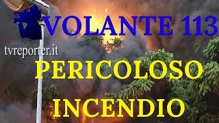 VOLANTE 113: Spaventoso incendio in una autofficina