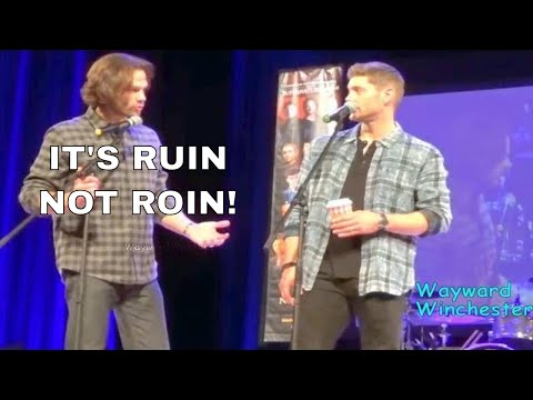 Jensen Ackles Can't Say 'Ruin' & Jared Corrects His Pronunciation MinnCon 2018