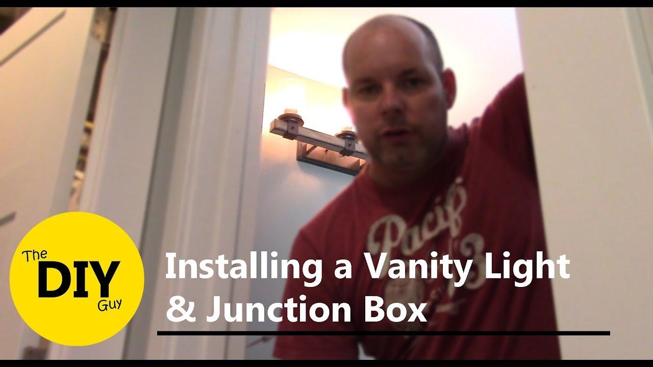 Installing A Vanity Light And Junction Box Kichler Barrington Wiring 37421