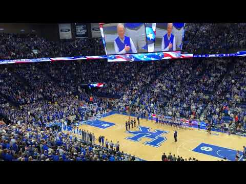 Kentucky basketball crowd sings national anthem acapella before Alabama game