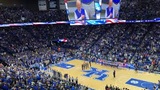 Kentucky basketball crowd sings national anthem acapella before Alabama game