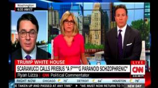 Cuomo asks Ryan Lizza if Scaramucci was taped agreeing to being on the Record, did he answer?