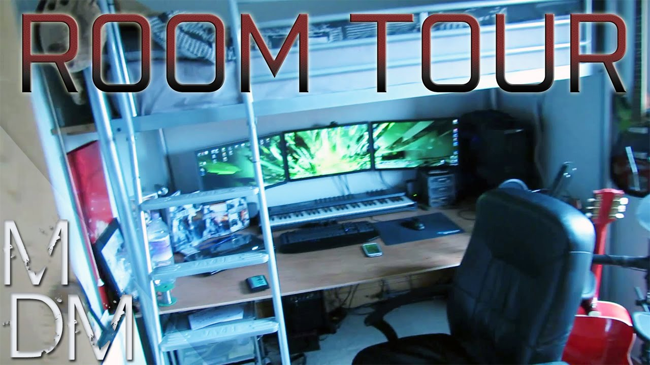 Epic Room Tour - Triple Monitor Gaming Setup, Home Music Studio and ...