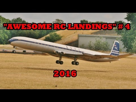 """AWESOME RC LANDINGS"" SPORTS & FIGHTER JETS ETC LANDING # 4 - 2016"