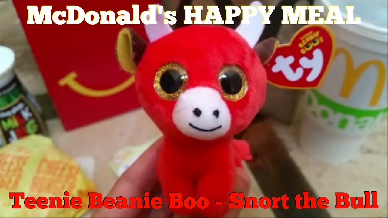 McDonalds Happy Meal Teenie Beanie Boo - Snort the Bull - YouTube ffb9f641c6c
