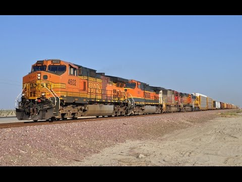 Amtrak and BNSF Trains in the San Joaquin Valley - Bakersfield to Fresno