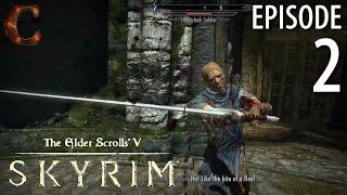 Elder Scrolls V: Skyrim Walkthrough in 1080p, Part 2: Battle in Helgen Keep (PC Gameplay)
