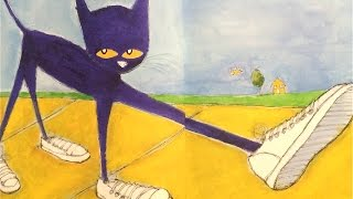 "Read along, ""Pete the Cat, I Love My White Shoes"""
